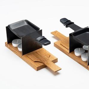 Raclette Set für 2 Personen My Raclette silber, Designer Raumgestalt, 9x22x9 cm