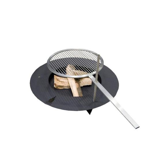Radius - Fireplate Feuerstelle - schwarz - 100 cm Ø - outdoor