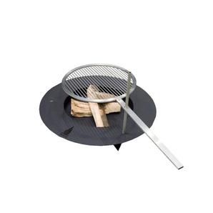 Radius - Fireplate Feuerstelle - schwarz - 75 cm Ø - outdoor