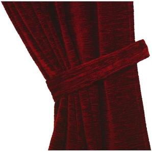 Raff-Halter , rot, B/H: 100/6cm, »Thermo-Chenille 288g/m²«, strapazierfähig, blickdicht, Wirth