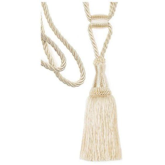 Raffhalter »Ellen«, Breite 80 cm, 2er Set, Gerster collection, beige, Material Materialmix, Polyester, Baumwolle