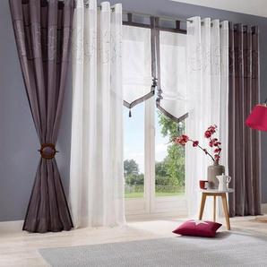 Raffhalter, my home, Gardinen, Vorhänge, (Set, 2-tlg), mit je zwei Querstäben