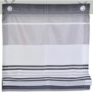 Raffrollo »Jamaica«, Kutti, mit Hakenaufhängung, ohne Bohren, freihängend, mit Ösen, incl. Fensterhaken