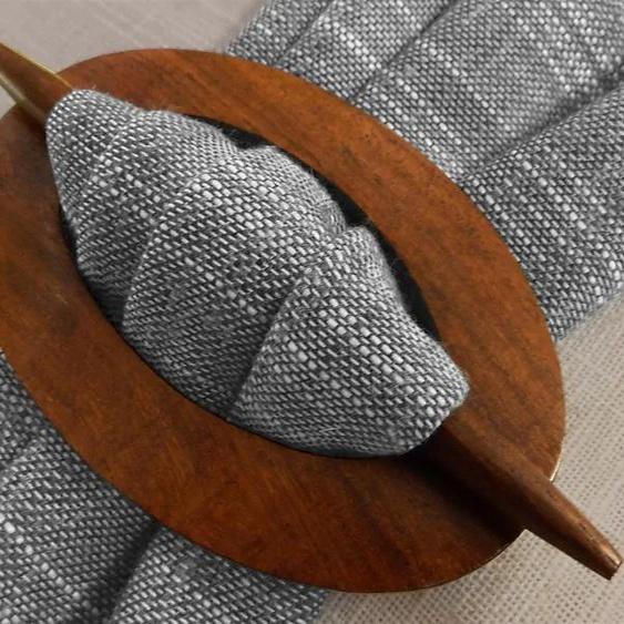 Raffspange Leni, Gerster, passend für Gardinen (Packung) L/B: 10/6,4 cm braun Dekoklammern Zubehör Vorhänge Raffhalter