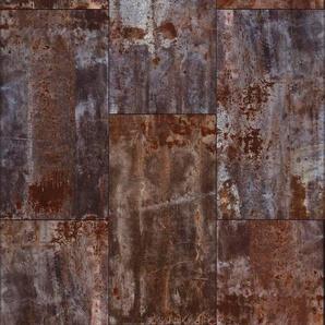 Rasch Fototapete Factory III, gemustert B/L: 1,86 m x 3 m, 1 St. braun Fototapeten Tapeten Bauen Renovieren
