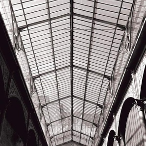 Rasch Fototapete Factory III, gemustert B/L: 2,33 m x 3 m, 1 St. grau Fototapeten Tapeten Bauen Renovieren