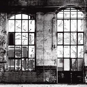 Rasch Fototapete Factory III, gemustert B/L: 3,72 m x 3 m, 1 St. grau Fototapeten Tapeten Bauen Renovieren