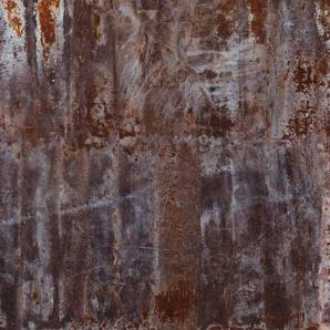 Rasch Fototapete Factory III, gemustert-Metall-Effekte B/L: 3,72 m x 3 m, 1 St. braun Fototapeten Tapeten Bauen Renovieren