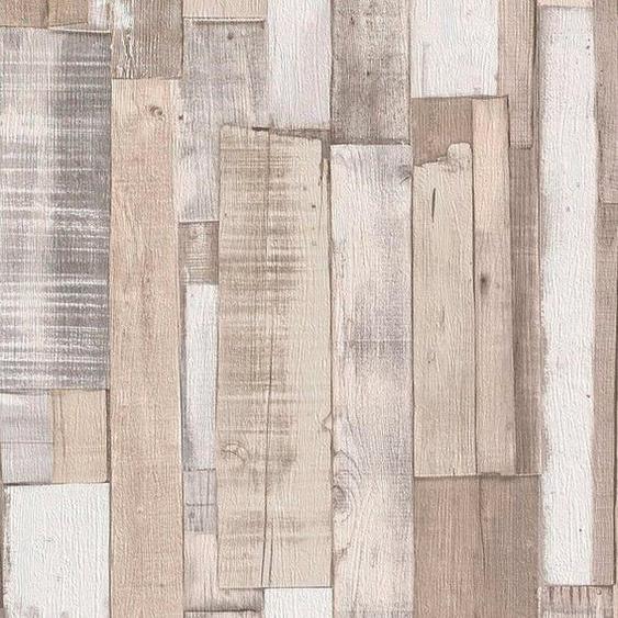 Rasch Papiertapete »Selection«, glatt, gemustert, Holz, (1 St)