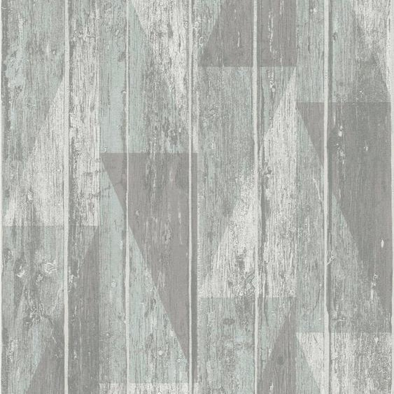 Rasch Strukturtapete »#Tapetenwechsel«, aufgeschäumt, gemustert, Holz, (1 St)