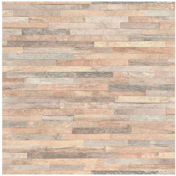 Rasch Vinyltapete »Factory III«, geprägt, gemustert, Holz, (1 St)