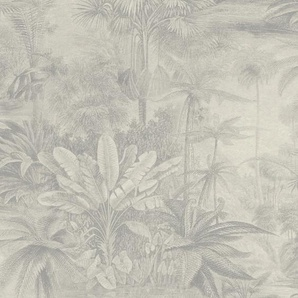 Rasch Vliestapete Kerala, gemustert-botanisch B/L: 0,53 m x 10,05 m, 1 St. grau Vliestapeten Tapeten Bauen Renovieren