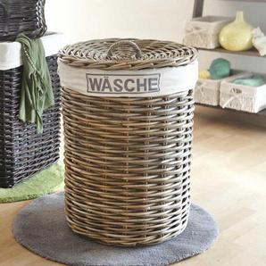 Rattankorb für Wäsche Grau