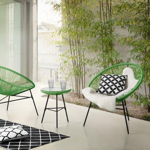 Gartenmöbel Set Kunststoff grün ACAPULCO