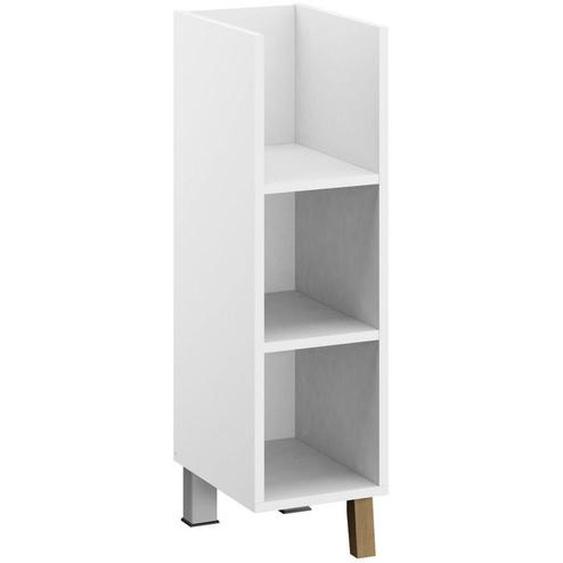 Rauch Babyunterstellregal Carlsson Weiß , Holzwerkstoff , Eiche , vollmassiv , 2 Fächer , 23x87x40 cm