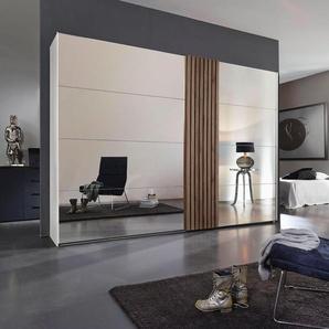 Rauch Black  Schrank mit Schwebetüren  mit Holzdekoraufleistung »Tegio«, 280 x 223 x 68 BxHxT cm, weiß