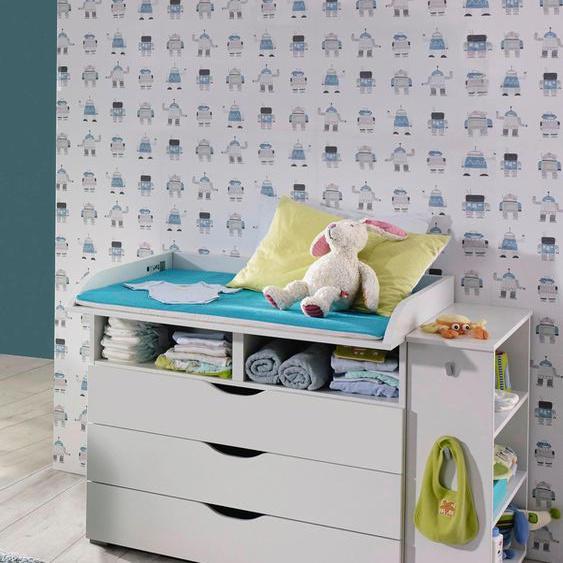 rauch BLUE Babymöbel-Set Bristol, (Spar-Set, 2 St.), Wickelkommode + Seitenregal B/H/T: 93 cm x 90 78 cm, Kommode weiß Baby Baby-Möbel-Sets Babymöbel