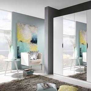 Rauch Kleider-Schrank »Freiham«, T/H 54/197 cm, Breite 181 cm, 4-türig, weiß, mit Spiegeltüren