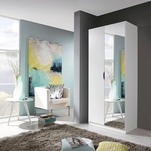 Rauch Kleider-Schrank »Freiham«, T/H 54/197 cm, Breite 91 cm, 2-türig, weiß, mit Spiegeltüren