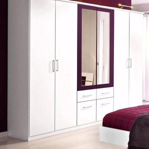 Rauch Kleiderschrank »Burano«, inkl. praktischen Schubkästen, lila, mit Spiegeltüren