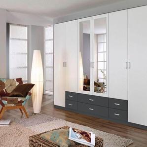 Rauch Kleider-Schrank »Gamma«, B/T/H 271/54/210 cm, mit Spiegeltüren, weiß, Breite 271 cm, 6-türig, mit 6 Türen