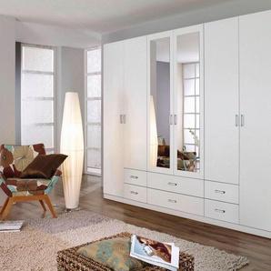 Rauch Kleiderschrank »Gamma«, 271 x 210 x 54 BxHxT cm, B/T/H 271/54/210 cm, weiß, mit 6 Türen