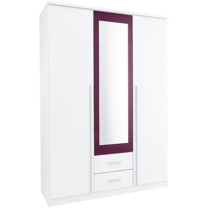 Rauch Kleiderschrank »Krefeld«, pflegeleichte Oberfläche, mit 2 Schubladen und Spiegel, lila