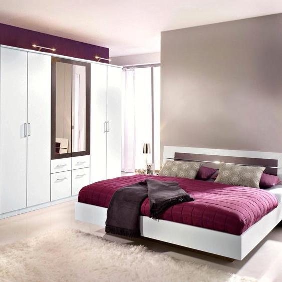 rauch BLUE Schlafzimmer-Set Burano (Set, 4-tlg) mit 4-trg. Schrank grau Komplett Schlafzimmer Betten Schlafzimmermöbel-Sets