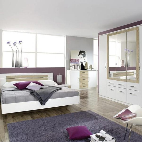 rauch BLUE Schlafzimmer-Set Burano (Set, 4-tlg) mit 5-trg. Schrank beige Komplett Schlafzimmer Betten Schlafzimmermöbel-Sets