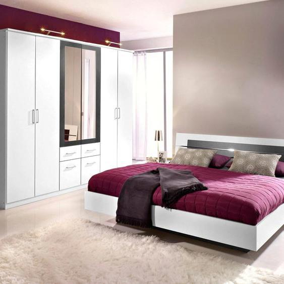 rauch BLUE Schlafzimmer-Set Burano (Set, 4-tlg) mit 6-trg. Schrank grau Komplett Schlafzimmer Betten Schlafzimmermöbel-Sets
