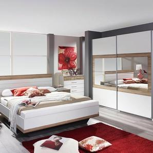 Rauch  PACK´S Schlafzimmer-Set  »Tarragona«, beige, Set aus Schwebetürschrank, Bett inkl. Bettbank und 2 Nachttischen