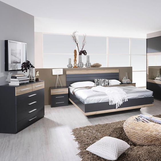 rauch BLUE Schlafzimmer-Set Tarragona (Set, 4-tlg) Einheitsgröße grau Komplett Schlafzimmer Betten Schlafzimmermöbel-Sets