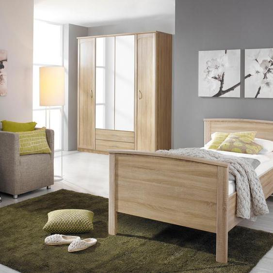 rauch BLUE Schlafzimmer-Set Torrent (Set, 3-tlg) Liegefläche 100x200 cm, 4-trg. Kleiderschrank beige Komplett Schlafzimmer Betten Schlafzimmermöbel-Sets