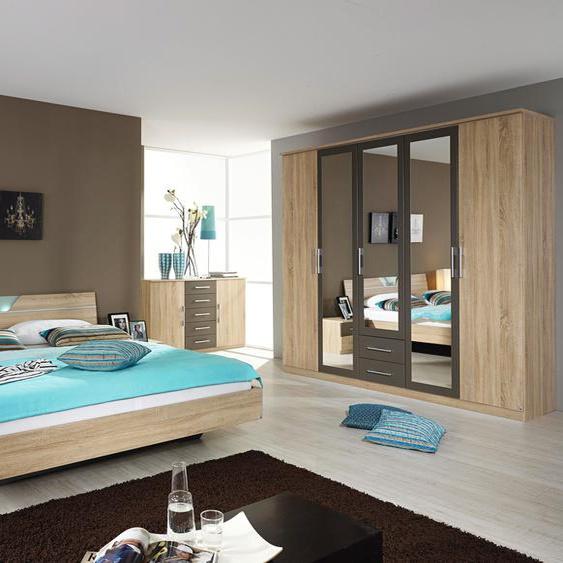rauch BLUE Schlafzimmer-Set Valence (Set, 4-tlg) Einheitsgröße grau Komplett Schlafzimmer Betten Schlafzimmermöbel-Sets