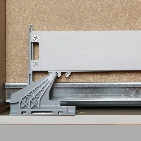rauch BLUE Schwebetürselbsteinzug Zubehör (Set, 2 Stück) Einheitsgröße grau für Kleiderschränke Möbel Türdämpfer