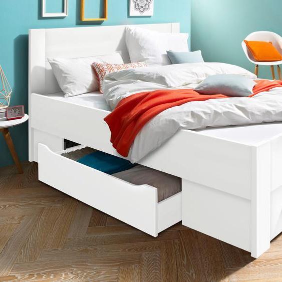 rauch BLUE Stauraumbett Isotta, mit 2 großen und 4 kleinen Schubkästen 140x200 cm weiß Doppelbetten Betten