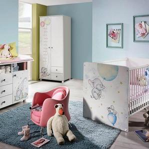 Babyzimmer-Komplettset »Vancouver«, (3 tlg) Bett + Wickelkommode + 2 trg. Schrank