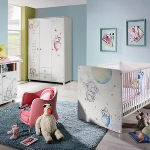 Babyzimmer-Komplettset »Vancouver«, (3 tlg) Bett + Wickelkommode + 3 trg. Schrank