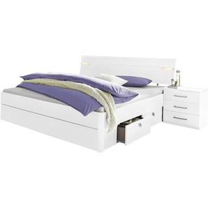 Rauch Bett »Rasa«, mit LED-Beleuchtung, weiß, 180/200 cm