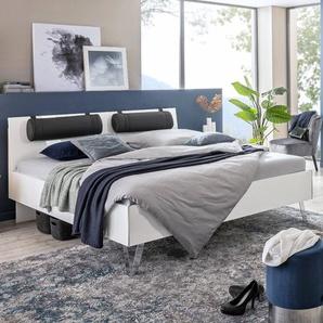 Rauch orange Bett, Weiß, Lack / Hochglanz 180 x 200 cm