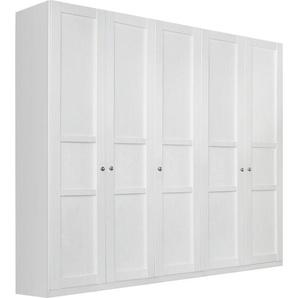 Rauch Kleiderschrank, T/H 60/222 cm, Breite 225 cm, 5-türig., weiß