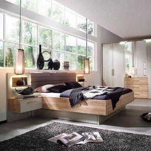 Rauch orange Schlafzimmer-Set, Grau, Holzoptik