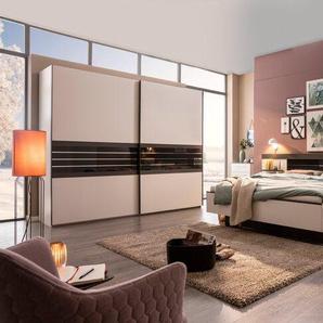 Rauch orange Schlafzimmer-Set, Weiß, Holzoptik