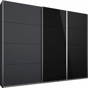 Rauch Schwebetürenschrank, Breite 271 cm, Höhe 230 cm, grau, Türen mit Spiegelauflagen