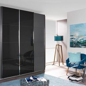 Rauch Schwebetüren-Schrank, Breite 361 cm, Höhe 230 cm, grau, Türen mit Spiegelauflagen
