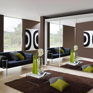 Rauch Schwebetürenschrank »Imperial«, mit 4 Spiegeln, weiß, Breite 350 cm, Höhe 197 cm
