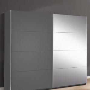 Rauch Schrank mit Schwebetüren »Moita«, B/T 62/210 cm, 1 Tür mit Spiegelelementen, Breite 181 cm, grau