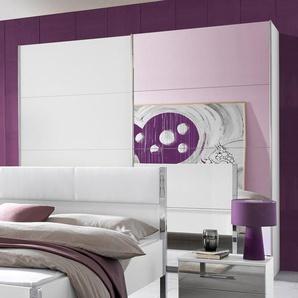Rauch Schwebetüren-Schrank »Moita«, B/T 62/210 cm, 1 Tür mit Spiegelelementen, Breite 181 cm, weiß