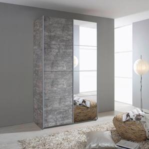 rauch ORANGE Schwebetürenschrank Quadra 0, 136 x 230 62 (B H T) cm, 2-türig grau Schwebetürenschränke Kleiderschränke Schränke