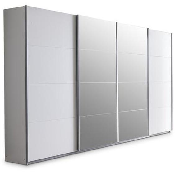 Rauch orange Schwebetürenschrank, Weiß, Kunststoff 361 x 230 cm